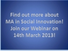 Webinar_ Master of Arts in Social Innovation