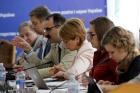 Ukrainian hosts headed by Minister Liliia Hrynevych