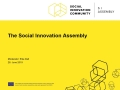 Update on the Social Innovation Assembly